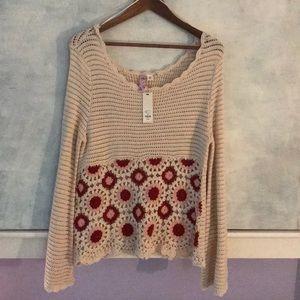 Crotchet cream knit